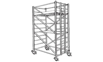 1.45M X 2.5M (Double Width Access Ladder Tower)