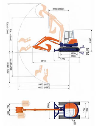 Wondrous 5 0 Ton Mini Excavator Plant Tool Access And Self Drive Vehicle Wiring 101 Ferenstreekradiomeanderfmnl
