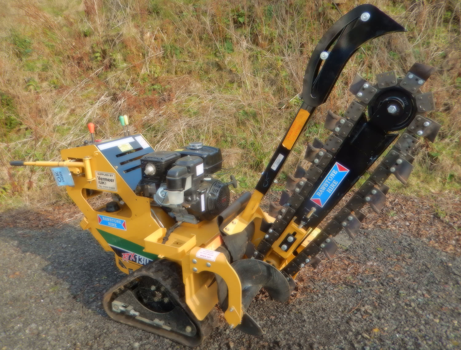 Tracked Trenching Machine Plant Tool Access And Self